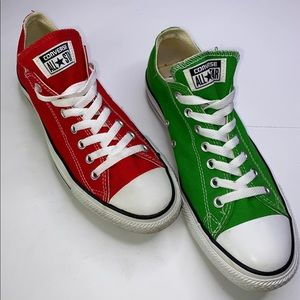 CONVERSE Green and Red Chuck Taylor All Star Sneakers - 10